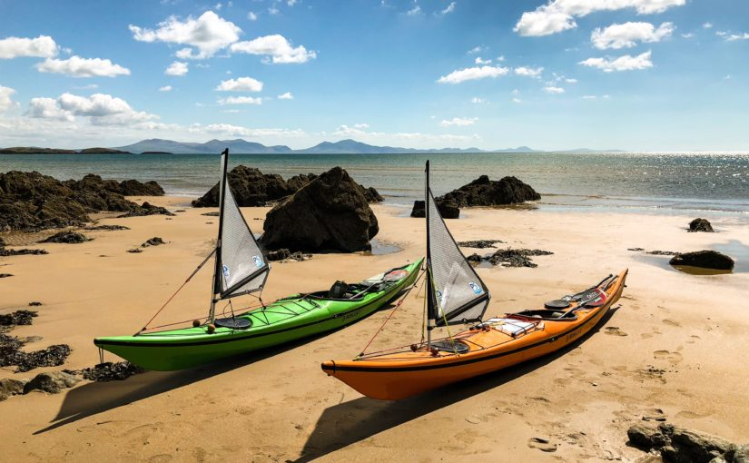 Paddlesailing product testing in Wales